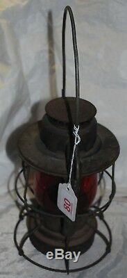 NYCS NewYork Central System Railroad Dietz Vesta Lantern Red Globe