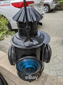 Nevada Copper Belt Adams & Westlake Railroad Switch Lamp Lantern Very Nice