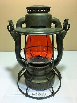 New York Central Amber Cast Railroad Lantern Detroit Chicago Buffalo Nyc Rr Prr