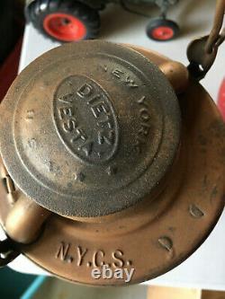 New York Central Dietz Vesta Railroad Lantern Clear Globe etched NYCS