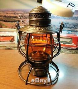 New York Hew Haven & Hartford Railroad Lantern A&w Company Nynh&hrr 1883