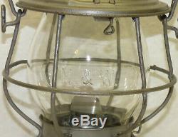 Old Adlake Reliable N&W RR Norfolk & Western Railroad Lantern Embossed Globe