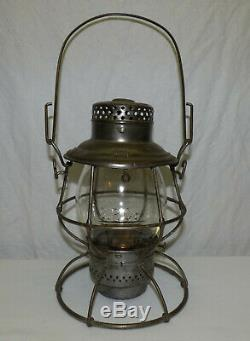 Old Adlake Reliable SP Co RR Southern Pacific Railroad Lantern Embossed Globe