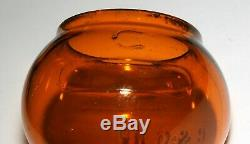 Old C&o Ry Railroad Lantern Globe, Orange Amber, Adlake Kero Cnx, Excellent