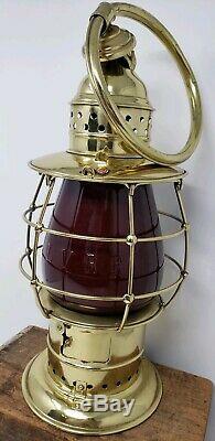 PORTER FIREMAN fire dept WRISTLET Kerosene Lantern 6in LVRR Railroad RR Globe