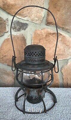 PRR 1925Railroad Lantern withPRR Etched Globe/1925 Brass Burner-fully functional