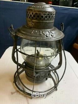 PRR Railroad Lantern The Adams Adams Westlake tall embossed PRR Circle K Globe