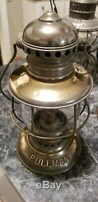 PULLMAN Conductor Railroad Lantern Adams Westlake brass Presentation P. Co Globe