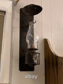 Pair Of Handlan Railroad TRAIN CABOOSE LANTERNS Wall Mounted Kerosene Lamp