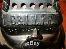 Pair of Adlake Non Sweating Chicago Northwestern Route Railroad 4 Way Lanterns