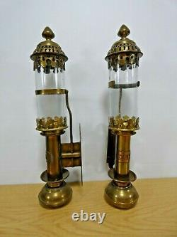 Pair of GWR Brass Candle Lamps Great Western Railway
