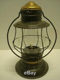 Pennsylvania Railroad Kelly Brass Top Bellbottom Lantern Great Condition PRR