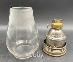 RARE 1860s Pullman Adams West Lake Co Railroad Kerosene Lantern WithGlobe 14 7/8