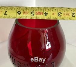 RED LAKE SHORE & MICHIGAN SOUTHERN RAILWAY Lantern Globe LS&MS L. S. &M. S