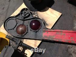 RSA Standard Rare Old Railroad RR Lantern Turn Arm Semaphore Signal Gate UQ-Lens