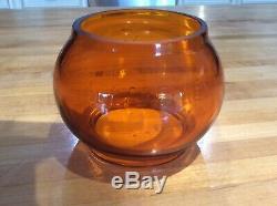Railroad Lantern Globe B & A Etched Amber Globe