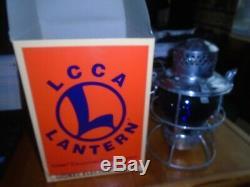Railroad Lantern Lionel LCCA 25th Anniversary Blue Globe NIB RARE