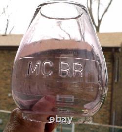 Railroad Lantern MCRR Michigan Central RR Cast Globe 99.99% Tinning Intact