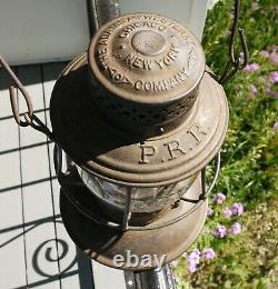 Railroad Lantern PRR Pennsylvania RR Bellbottom Twist Off CC Matching PRR Globe