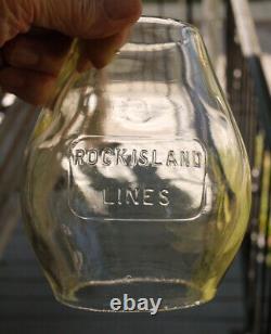 Railroad Lantern Rock Island Lines with Cast Logo Matching Globe CRI&P RR Ry