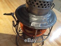 Railroad Lantern Virginia VGN RY- Amber Adlake Kero Globe