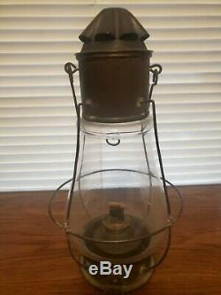 Railroad Marine Brass Fixed Globe Lantern