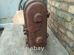 Railroad Train Track Double Light Signal Marker Traffic Vintage Cast Iron Dwarf