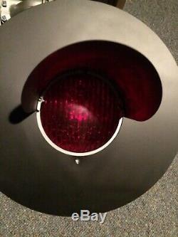 Railroad crossing signal lights