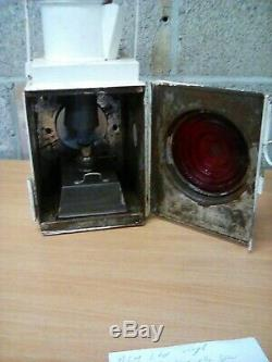 Railway lamp vintage carriage rolling stock steam engine tail light complete
