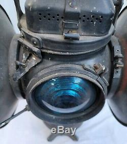 Rare Adlake Lamp Lantern 4 Lens 2 Way Chicago 1264 Railroad Switch Signal Train