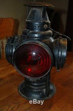 Rare Antique Adlake Non-Sweating Lamp Railroad Switchmans Signal Lantern Chicago