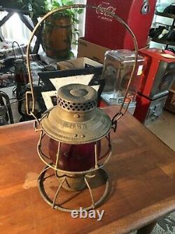 Rare Antique Adlake Reliable Western Maryland Railroad Lantern Very Rare