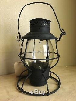 Rare B&O Railroad Adlake Lantern With Cast Baltimore & Ohio Capitol Globe