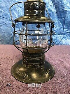 Rare Handlan Buck MO PAC B88475 Bell Bottom Railroad Lantern with Marked Globe