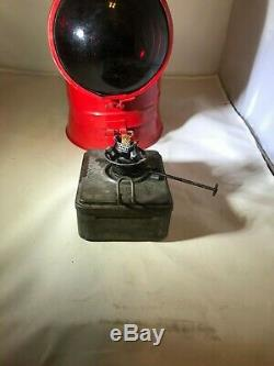 Red Pennsylvania Railroad Lantern