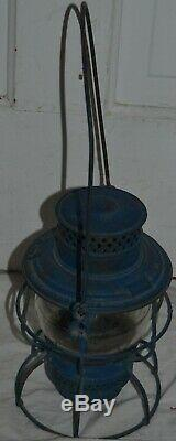 Rock Island Railroad Adlake 250 Kero Lantern with Clear Globe