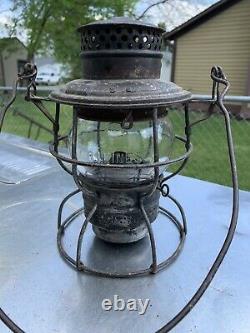 Rock Island Railroad Lantern WithCast Globe RI Lines