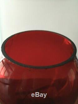 S. P. Co. Southern Pacific Railroad Lantern Red Cast Embossed Tall Globe
