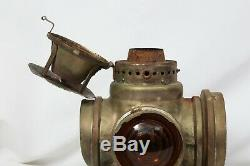 SANTA FE 4 Way Railroad Switch Train Signal Lantern Lamp bracket Kerosene