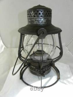 SANTA FE RAILROAD LANTERN Clear Cast Santa Fe Lantern Globe