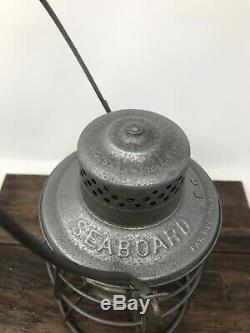 SEABOARD AIR LINE RAILROAD TALL CAST GLOBE LANTERN S. A. L. RY Keystone Casey