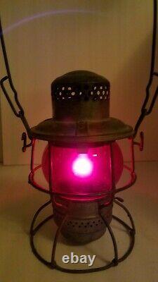 SOO LINE Railroad Lantern Works Red Globe Adams & Westlake Train Rail Fan C5
