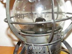 SOO Line Railroad Lantern With Etched Globe
