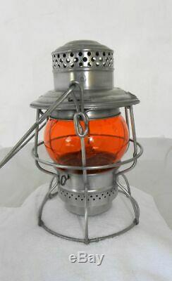SOUTHERN PACIFIC RAILROAD LANTERN Signal Yellow CNX Lantern Globe