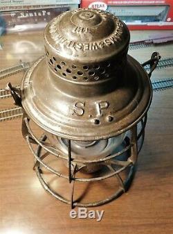 SOUTHERN PACIFIC Railroad Lantern A&W COMPANY THE ADAMS S. P. 1897
