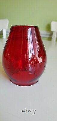 SP Co CNX 5.5 Red Globe for Tall Railroad RR Lanterns Southern Pacific Railway
