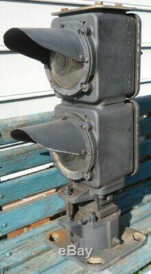 Safetran Red And Amber Railroad Dwarf Signal Free Shipping Safetran
