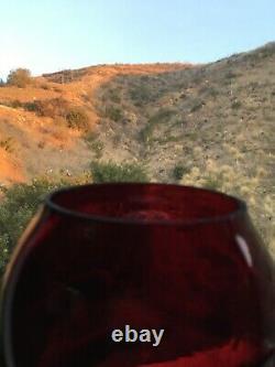 San Pedro, Los Angeles & Salt Lake Railroad (Salt Lake Route) Lantern, Red Cast