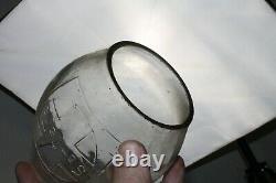 Santa Fe Clear Cross Logo Railroad Lantern Globe