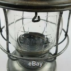 Santa Fe Globe Bell Bottom Railroad Lantern Cast Logo Globe Heavy Strike